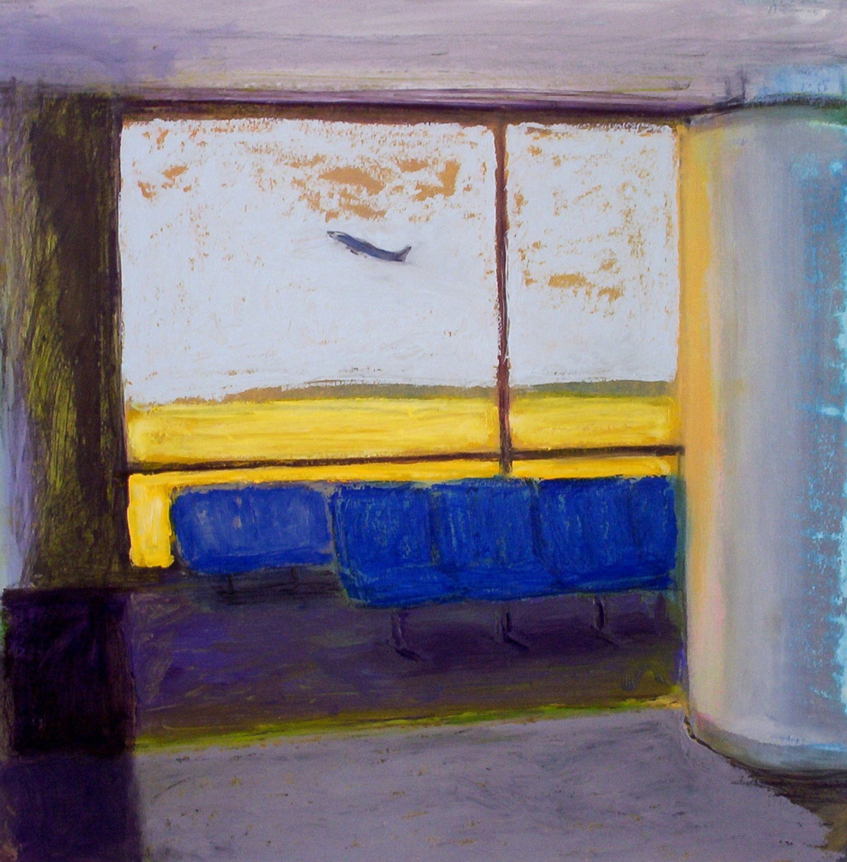 Departure | oil on paper 20 x 20 2009