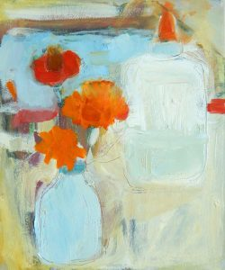 Summer Bouquet   oil on canvas 7.5 x 6.5