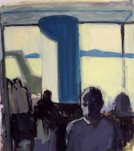 Waiting | oil on paper 22 x 21 2008