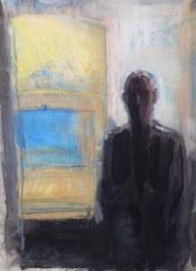 Against the light   pastel on monotype 15 x 11 2018