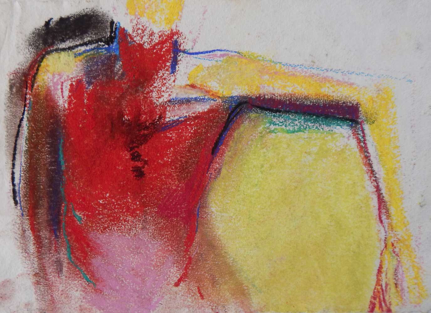 Red Torso | pastel on paper 8 x 11.5 2002